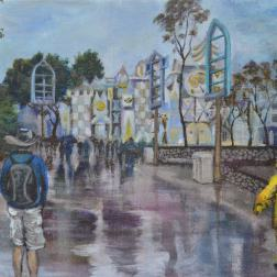 A Rainy Day at Disneyland