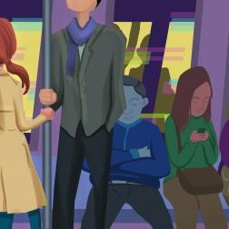 Subway ride by Martina Lo