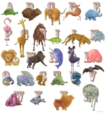 Alphabet Animal Design by MartinaLo