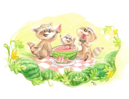 RacoonWatermelon