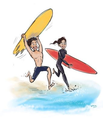 Surfing Couple_MLo